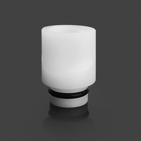 LieFeng 510 Flat Mouthpiece Drip Tip for RDA / RTA / Clearomizer - White, POM, 16.5mm