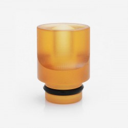 LieFeng 510 Flat Mouthpiece Drip Tip for RDA / RTA / Clearomizer - Brown, PEI, 16.5mm