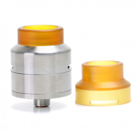 Goon LP Style RDA Rebuildable Dripping Atomizer - Silver, Stainless Steel + PEI, 24mm Diameter