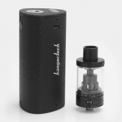 Authentic Kanger K-KISS 6300mAh VW Mod Starter kit - Black, 4.5ml, 0.2 ohm