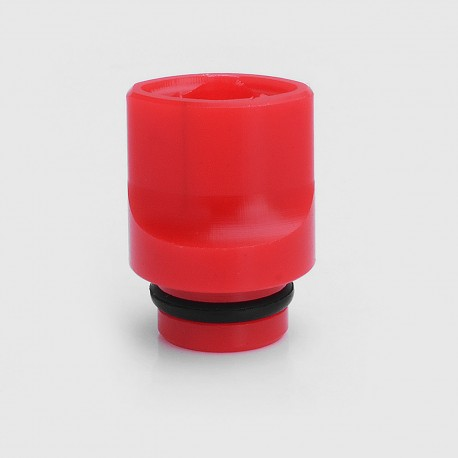 510 Flat Mouthpiece Drip Tip for RDA / RTA / Clearomizer - Red, POM