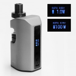 Authentic Eleaf ASTER RT 4400mAh 100W TC VW Variable Wattage Mod with MELO RT 22 Atomizer - Grey, 1~100W, 3.8ml, 0.3 ohm