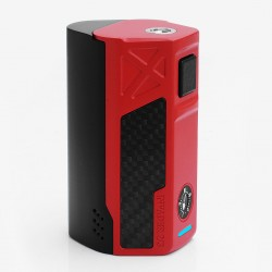 Authentic Tesla Invader 2/3 240W / 360W VV APV Variable Voltage Mod - Red, Zinc Alloy, 3~8V, 0.1~3 ohm, 2/3 x 18650