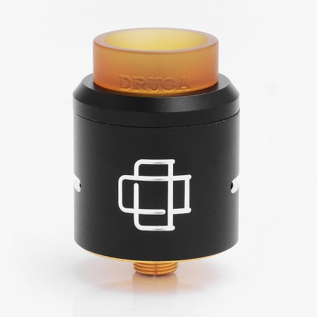 Authentic Augvape Druga RDA Rebuildable Dripping Atomizer for Electronic Cigarette - Black, 304 Stainless Steel, 24mm Diameter