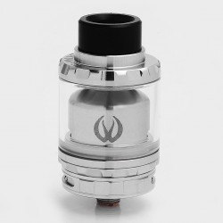 Authentic Vandy Vape Kylin RTA Rebuildable Tank Atomizer - Silver, Stainless Steel + Pyrex Glass, 6ml, 24mm Diameter