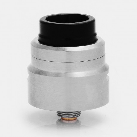 SXK Armor 1.0 Style RDA Rebuildable Dripping Atomizer w/ Bottom Feeder Pin - Silver, 316 Stainless Steel, 22mm Diameter
