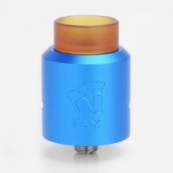 GOON MAX Style RDA Rebuildable Dripping Atomizer w/ Bottom Feeder Pin - Blue, Aluminum + Stainless Steel + PEI, 24mm Diameter