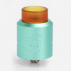 GOON MAX Style RDA Rebuildable Dripping Atomizer w/ Bottom Feeder Pin - Green, Aluminum + Stainless Steel + PEI, 24mm Diameter
