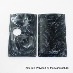 SXK Replacement Cover Panel for BB Style Box Mod - Black + Grey, Resin
