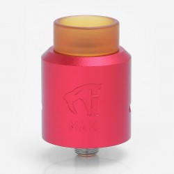 GOON MAX Style RDA Rebuildable Dripping Atomizer w/ Bottom Feeder Pin - Red, Aluminum + Stainless Steel + PEI, 24mm Diameter