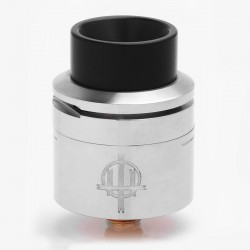 Authentic Hellvape Trishul RDA Rebuildable Dripping Atomizer - Silver, Stainless Steel, 24mm Diameter