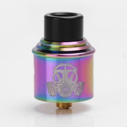 Apocalypse GEN 2 Style RDA Rebuildable Dripping Atomizer w/ BF Pin - Rainbow, Stainless Steel, 24mm Diameter