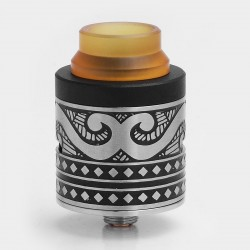 Authentic Cigreen APIS RDA Rebuildable Dripping Atomizer - Black + Silver, Stainless Steel, 24mm Diameter