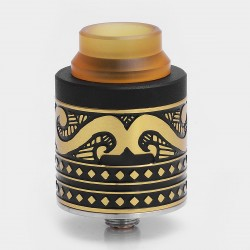 Authentic Cigreen APIS RDA Rebuildable Dripping Atomizer - Black + Gold, Stainless Steel, 24mm Diameter
