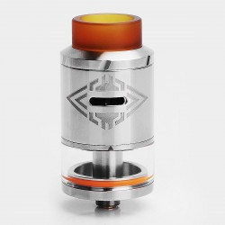 Authentic OBS Crius RDTA Rebuildable Dripping Tank Atomizer - Silver, Stainless Steel + Pyrex Glass, 4ml, 24mm Diameter