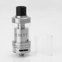 Authentic GeekVape Ammit RTA Rebuildable Tank Atomizer - Silver, Stainless Steel + Glass, 3.5ml, 22mm Diameter