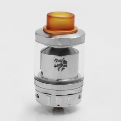 Authentic GeekVape Ammit Dual Coil RTA Rebuildable Tank Atomizer - Silver, Stainless Steel, 3ml / 6ml, 27mm Diameter