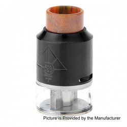 GOON V2 Style RDTA Rebuildable Dripping Tank Atomizer w/ Resin Drip Tip - Black, Stainless Steel, 3.5ml, 24mm Diameter