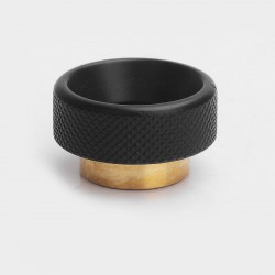 Knurled Drip Tip for 528 Goon / Goon LP / Kennedy / Battle RDA - Black, Brass, 11mm
