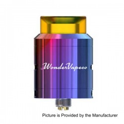 Authentic IJOY Wondervape RDA Rebuildable Dripping Atomizer - Rainbow, Stainless Steel, 24mm Diameter