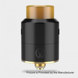 Authentic Vandy Vape Pulse 22 BF RDA Rebuildable Dripping Atomizer - Black, Stainless Steel, 22mm Diameter