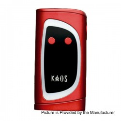 Authentic Sigelei Kaos Spectrum 230W TC VW Variable Wattage Mod - Red, Zinc Alloy, 10~230W, 2 x 18650