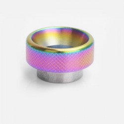 Knurled Drip Tip for 528 Goon / Goon LP / Kennedy / Battle RDA - Rainbow, Stainless Steel, 11mm