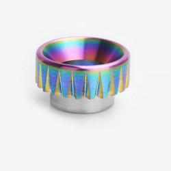 Fluted Shape Drip Tip for 528 Goon / Goon LP / Kennedy / Battle RDA - Rainbow, Stainless Steel, 11mm