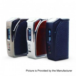 Authentic Thinkvape MKL200 200W TC VW Variable Wattage Box Mod - Silver + Red, Zinc Alloy, 5~200W, 2 x 18650