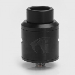 Goon 1.5 Style RDA Rebuildable Dripping Atomizer - Black, Stainless Steel, 24mm Diameter