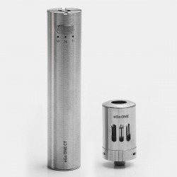 Authentic Joyetech Ego One CT XL Version 2200mAh Starter Kit - Silver, Stainless Steel, 1.8mL, 1.0 Ohm, US Plug