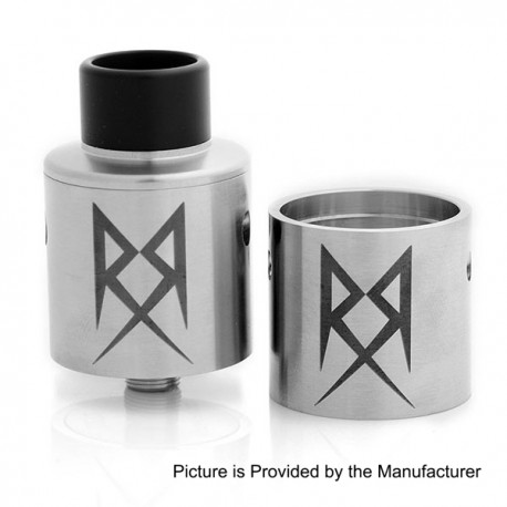 Authentic Grimm Green X Ohm Boy Recoil Performance RDA Rebuildable Dripping Atomizer - Silver, Stainless Steel, 24mm Diameter