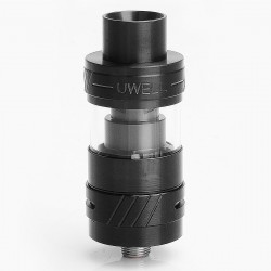 Authentic Uwell Crown II Mini Sub Ohm Tank Atomizer - Black, Stainless Steel, 2ml, 22mm Diameter