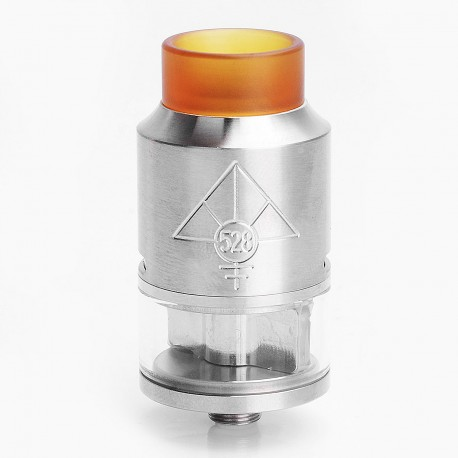 GOON V2 Style RDTA Rebuildable Dripping Tank Atomizer w/ PEI Drip Tip - Silver, Stainless Steel, 3.5ml, 24mm Diameter
