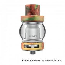 Authentic Freemax Fire Luke Sub Ohm Tank w/ Duodenary Coil + RTA - Yellow, 316 Stainless Steel + Resin, 4ml, 0.15 Ohm (80~180W)
