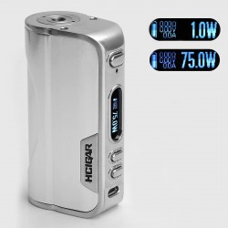 Authentic HCigar VT75 75W TC VW Variable Wattage Box Mod - Silver, 1~75W, 1 x 18650 / 26650, Evolv DNA 75