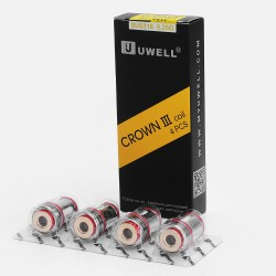 Authentic Uwell Crown 3 Coil Heads for Uwell Crown 3 Sub Ohm Tank - Silver, 0.25 Ohm (80~90W) (4 PCS)