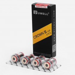 Authentic Uwell Crown 3 Coil Heads for Uwell Crown 3 Sub Ohm Tank - Silver, 0.5 Ohm (70~80W) (4 PCS)