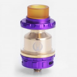 Authentic Vandy Vape Kylin RTA Rebuildable Tank Atomizer - Purple, Stainless Steel + Pyrex Glass, 6ml, 24mm Diameter