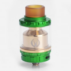 Authentic Vandy Vape Kylin RTA Rebuildable Tank Atomizer - Green, Stainless Steel + Pyrex Glass, 6ml, 24mm Diameter