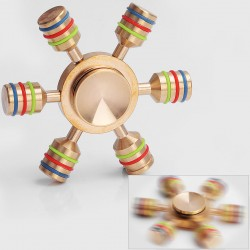 Authentic Vapjoy 6-Axis Hand Spinner Fidget Toy EDC - Gold, Brass