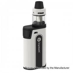 Authentic Joyetech CuBox 3000mAh Built-in Battery Box Mod - White, Stainless Steel