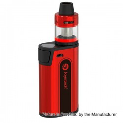 Authentic Joyetech CuBox 3000mAh Built-in Battery Box Mod - Red, Stainless Steel