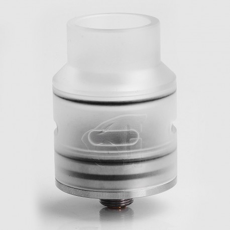 Goon 1.5 Style RDA Rebuildable Dripping Atomizer w/ Silver Deck - Stainless Steel + POM, 24mm Diameter
