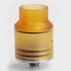 Goon 1.5 Style RDA Rebuildable Dripping Atomizer w/ Silver Deck - Stainless Steel + PEI, 24mm Diameter