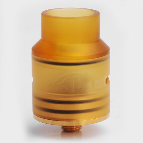 Goon 1.5 Style RDA Rebuildable Dripping Atomizer w/ Gold Deck - Stainless Steel + PEI, 24mm Diameter