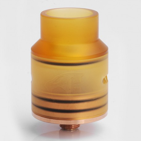Goon 1.5 Style RDA Rebuildable Dripping Atomizer w/ Rose Gold Deck - Stainless Steel + PEI, 24mm Diameter