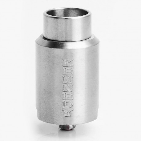 Kennedy Trickster 24 Style Dual-Pole RDA Rebuildable Dripping Atomizer - Silver, Stainless Steel, 24mm Diameter