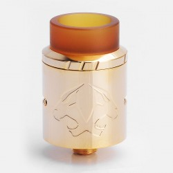 Authentic OBS Cheetah II Mini RDA Rebuildable Dripper Atomizer - Gold, Stainless Steel + PEI, 22mm Diameter