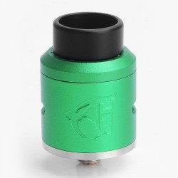 Goon 1.5 Style RDA Rebuildable Dripping Atomizer w/ BF Pin - Green, Aluminum + Stainless Steel, 24mm Diameter